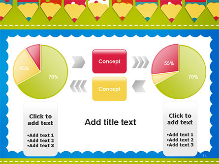 Frame of Colorful Funny Pencils PowerPoint Template Slide 11