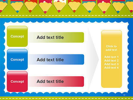 Frame of Colorful Funny Pencils PowerPoint Template Slide 12