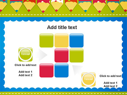 Frame of Colorful Funny Pencils PowerPoint Template Slide 16