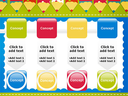 Frame of Colorful Funny Pencils PowerPoint Template Slide 18