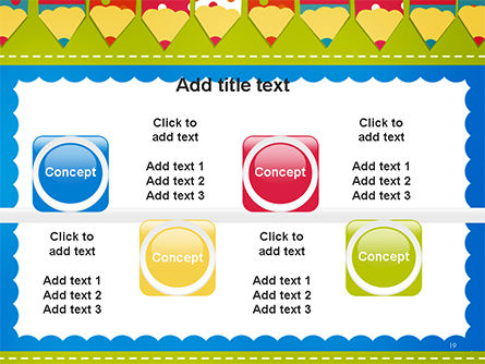 Frame of Colorful Funny Pencils PowerPoint Template Slide 19