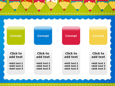 Frame of Colorful Funny Pencils PowerPoint Template Slide 5