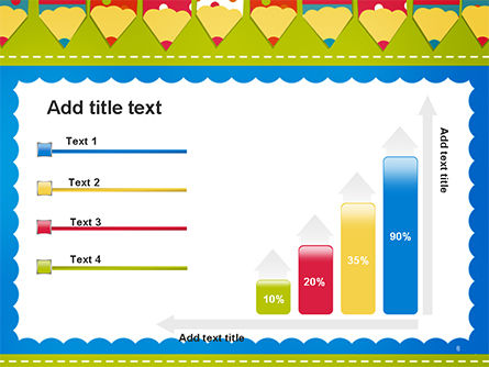 Frame of Colorful Funny Pencils PowerPoint Template Slide 8