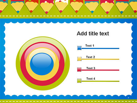 Frame of Colorful Funny Pencils PowerPoint Template Slide 9