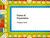Frame of Colorful Funny Pencils PowerPoint Template#1