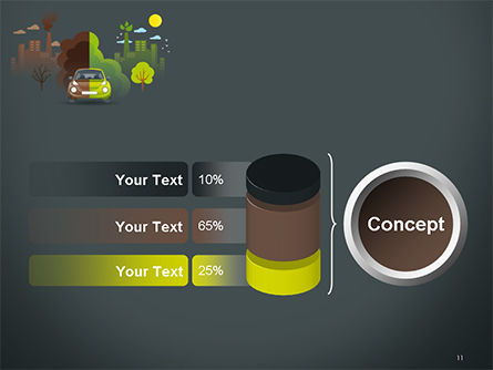 Half Green and Brown Environment PowerPoint Template Slide 11