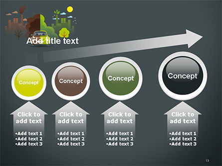 Half Green and Brown Environment PowerPoint Template Slide 13