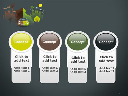 Half Green and Brown Environment PowerPoint Template Slide 5
