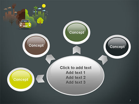 Half Green and Brown Environment PowerPoint Template Slide 7