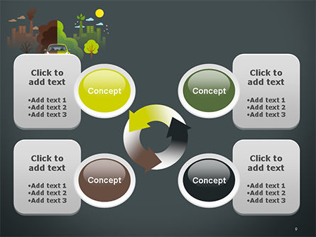 Half Green and Brown Environment PowerPoint Template Slide 9