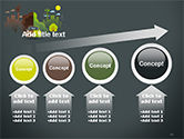 Half Green and Brown Environment PowerPoint Template#13