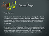 Half Green and Brown Environment PowerPoint Template#2