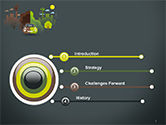 Half Green and Brown Environment PowerPoint Template#3