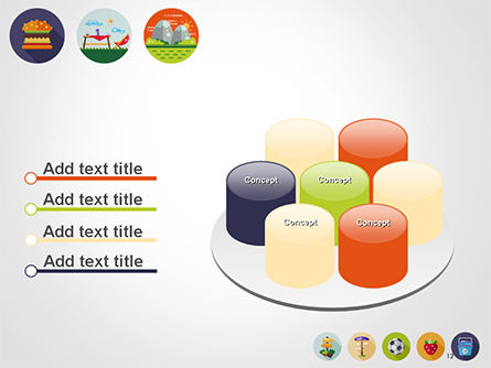 Barbecue and Picnic Icons PowerPoint Template Slide 12