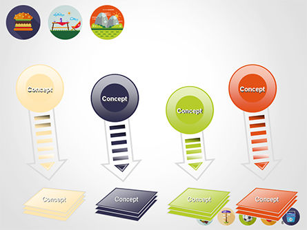 Barbecue and Picnic Icons PowerPoint Template Slide 8