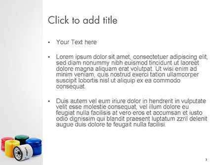 Oil Filters PowerPoint Template, Slide 3, 14699, Cars and Transportation — PoweredTemplate.com