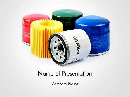 Cars and Transportation: Oil Filters PowerPoint Template #14699