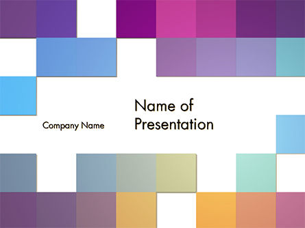 Colorful Mosaic PowerPoint Template, 14700, Abstract/Textures — PoweredTemplate.com