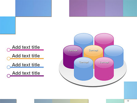 Colorful Mosaic PowerPoint Template Slide 12