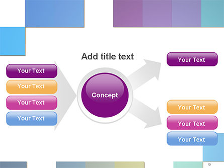 Colorful Mosaic PowerPoint Template Slide 15