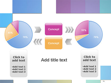 Colorful Mosaic PowerPoint Template Slide 16