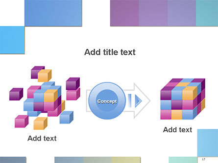 Colorful Mosaic PowerPoint Template Slide 17