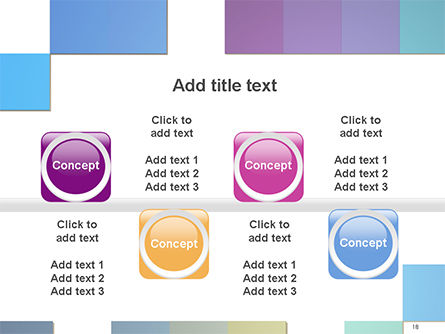 Colorful Mosaic PowerPoint Template Slide 18