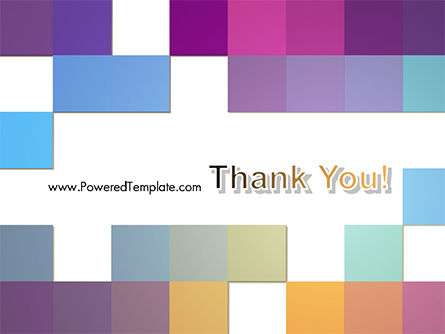 Colorful Mosaic PowerPoint Template Slide 20