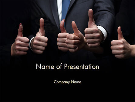 Thumbs Up PowerPoint Template, 14701, Business Concepts — PoweredTemplate.com