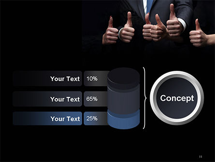 Thumbs Up PowerPoint Template Slide 11