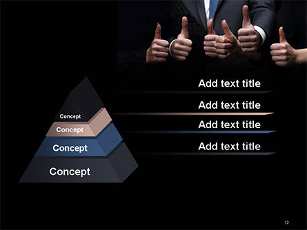 Thumbs Up PowerPoint Template Slide 12