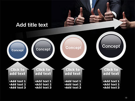 Thumbs Up PowerPoint Template Slide 13