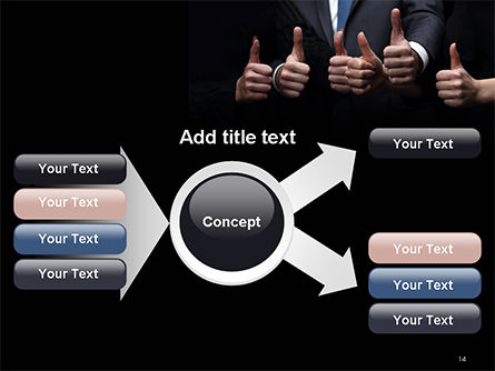 Thumbs Up PowerPoint Template Slide 14