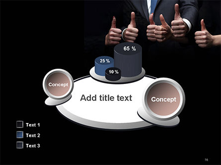 Thumbs Up PowerPoint Template Slide 16