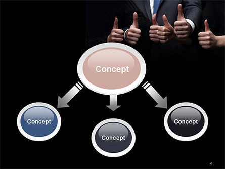 Thumbs Up PowerPoint Template, Slide 4, 14701, Business Concepts — PoweredTemplate.com