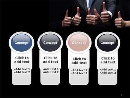 Thumbs Up PowerPoint Template Slide 5