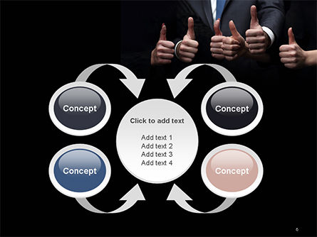 Thumbs Up PowerPoint Template Slide 6