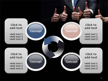Thumbs Up PowerPoint Template Slide 9