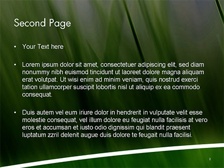 Green House Outline PowerPoint Template Slide 2