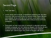 Green House Outline PowerPoint Template#2