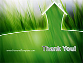 Green House Outline PowerPoint Template#20