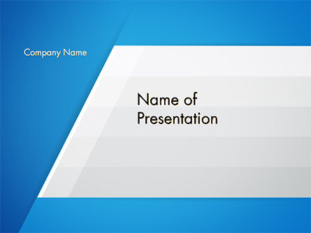Abstract/Textures: Simple Blue and White PowerPoint Template #14703