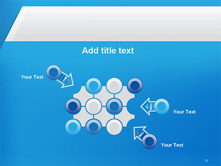 Simple Blue and White PowerPoint Template Slide 10