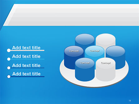 Simple Blue and White PowerPoint Template Slide 12