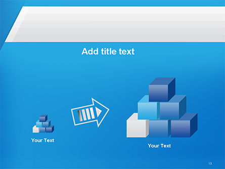 Simple Blue and White PowerPoint Template Slide 13