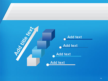 Simple Blue and White PowerPoint Template Slide 14