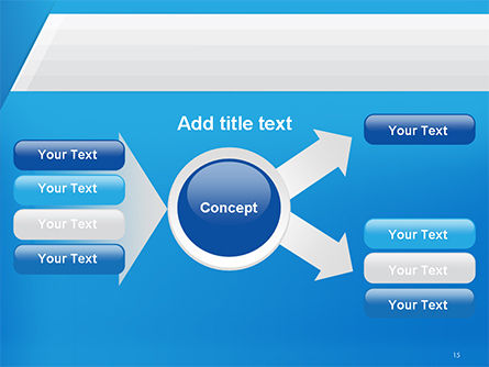 Simple Blue and White PowerPoint Template Slide 15