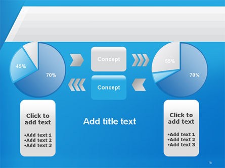 Simple Blue and White PowerPoint Template Slide 16