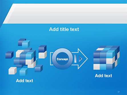 Simple Blue and White PowerPoint Template Slide 17