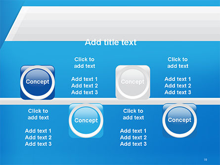 Simple Blue and White PowerPoint Template Slide 18